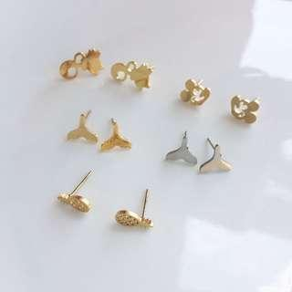 Non Tarnish Stud Earrings