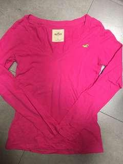 Hollister Pink Long Sleeves Tee