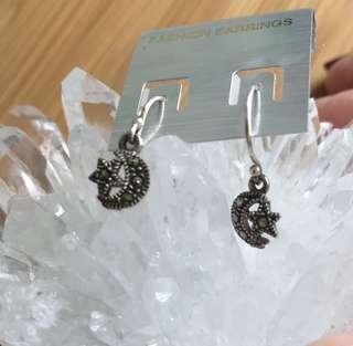 Silver earrings/銀耳環