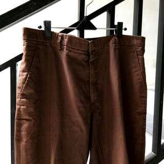 #PrelovedWithLove Celana cokelat seragam pramuka