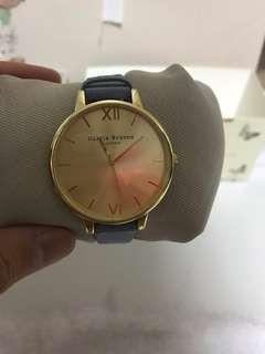 Olivia Burton Gold Leather Strap Luxury Watch