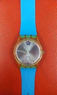SWATCH ORIGINAL GE160 / WOMAN IN BLUE #DEC50