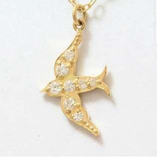 18k Diamond Necklace  - Bird
