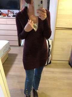 🚚 香港設計師品牌針織長版上衣(可當洋裝)