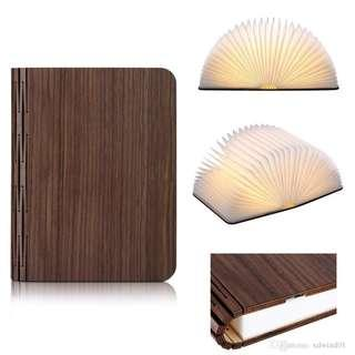 Wooden Book Lamp Folding Book Light