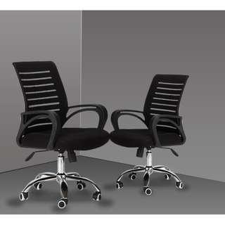 🚚 Full Black Office Chair