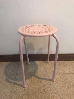 Pink Metal Stool For Sale