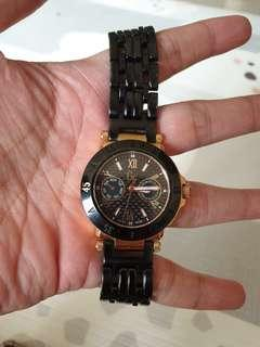 Jam tangan GC 45502L black rose gold (women)