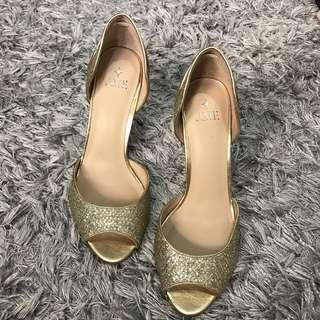 From US - Gold Peep Toe Size 39