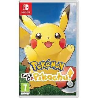 WTS Pokémon let's go Pikachu