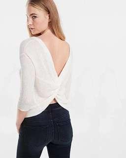 USA Express超靚女裝綁帶打結露背4色上衣毛衣top sweater A&F Abercrombie & Fitch AF Hollister HCO AEO