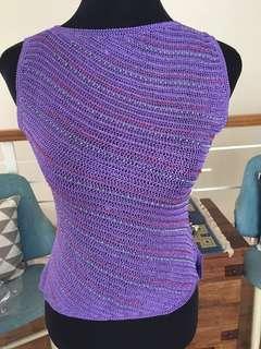 Korean knit top- violet