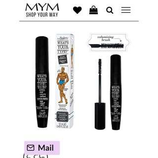 NEW WHATS YOUR TYPE MASCARA THE BALM