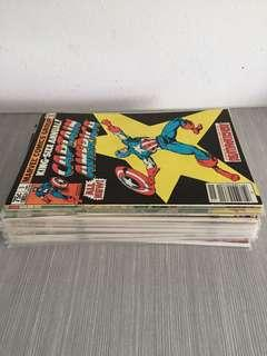 Captain America bronze and copper age mixed lot