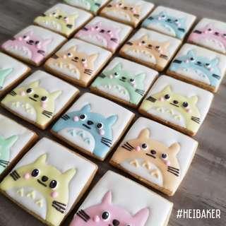 Pastel Totoro Cookies
