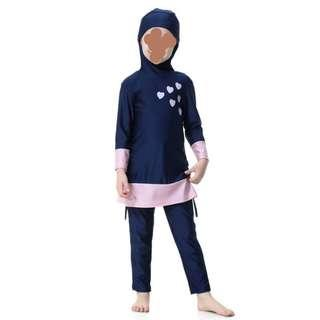 Modest swimming attire for little children age 3 to 12 years old