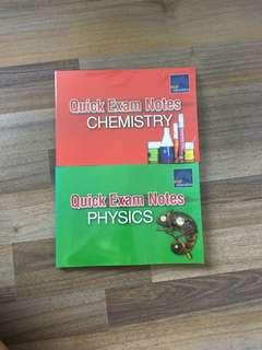 chemistry / physics quick exam notes