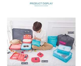 Travel storage six pieces of travel luggage packing bags clothing bags into portable waterproof storage bags