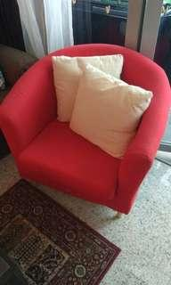 Red armchair for sale!
