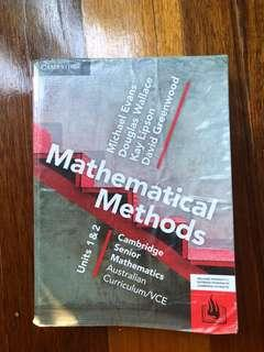 Cambridge Mathematical Methods Units 1 and 2 Textbook