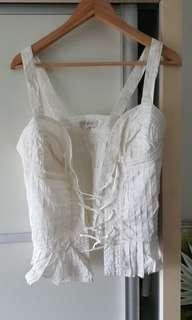 Spaggeti Top with front tie up lace