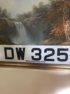 DW325車牌