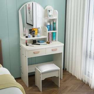 梳妝台臥室小戶型網紅化妝台現代簡約化妝櫃經濟型簡易化妝桌歐式