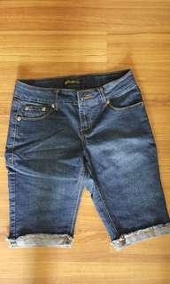 Denim 3/4 shorts