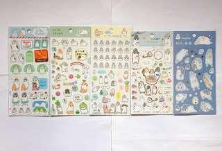 幾兔麻吉兔貼紙(共五款/可單購或一套購買)