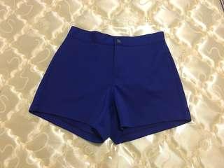 Cobalt blue high waisted shorts