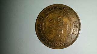 1 penny 1922