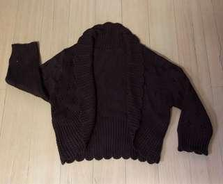 Ladies Brown Knitted Sweater