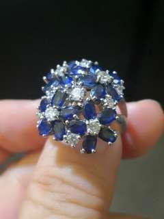 Natural Africa Blue Sapphire Ring