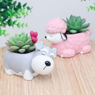 Cute Dog Flower Pots