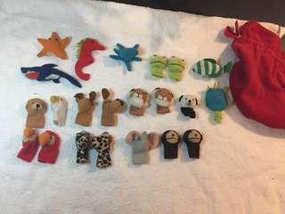 🚚 手指的人形 22個 Finger Puppets
