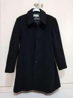 Sophia Wool and Cashmere black coat for women