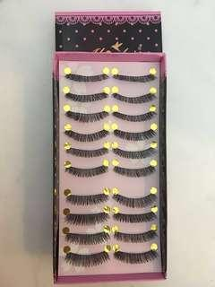 10 pairs of princess style false eyelashes(price reduced from $3)