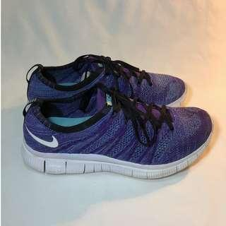 Nike free fly knit coat purple