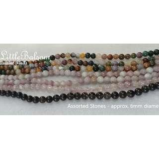 Assorted Natural Stone Beads 5mm 6mm