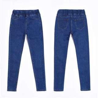 Plus Size Dark Blue Skinny Jeans