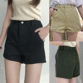 Plus Size Army Green Shorts