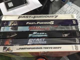 Fast Furious Dvd 6pcs