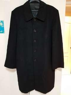 Sophia Wool and Cashmere coat in black for mens
