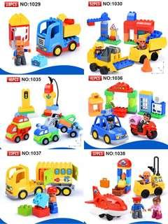 🚚 🌟PM for price🌟 🍀6 Style Original Classic Big Building Block City Series Bricks🍀