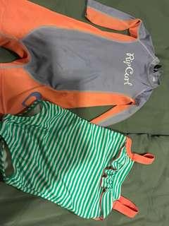 Rip curl and Lego swimming suit