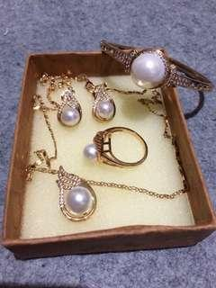 Reprice Set of Rose Gold Jewelry