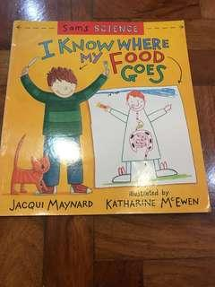 Sam's Science I Know Where My Food Goes Childrens Educational Book