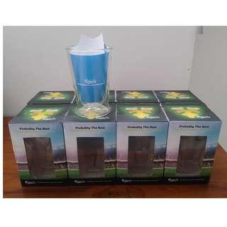 Carlsberg Double Walled Glass, Set of 8 pcs. Price Reduced to S$26, Original @ S$38.00