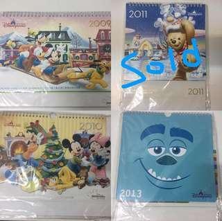 迪士尼樂園🏰員工座枱月曆✨2009 2010 2013