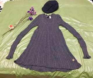 Her Bench 1993 Vintage Knit Dress